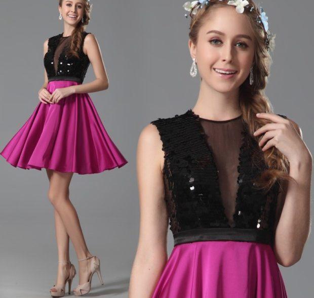 платье розовая юбка гипюровый верх