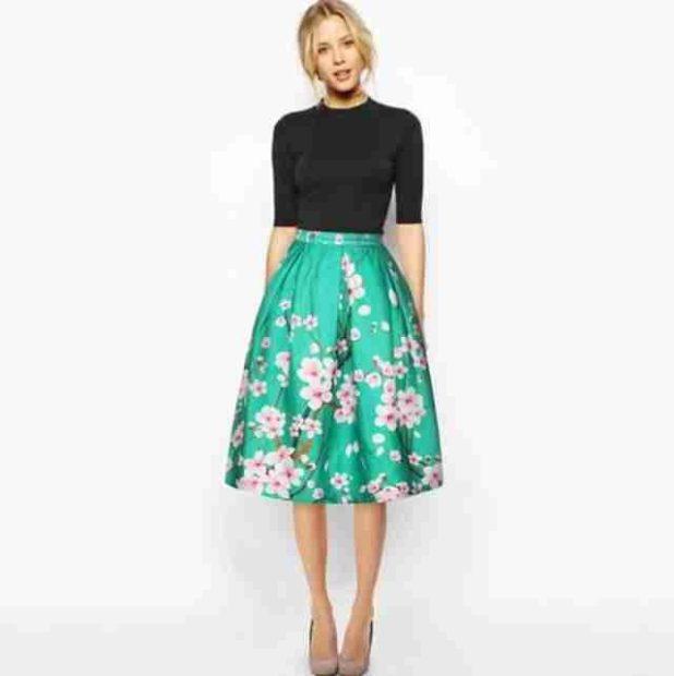атласная юбка высокая талия
