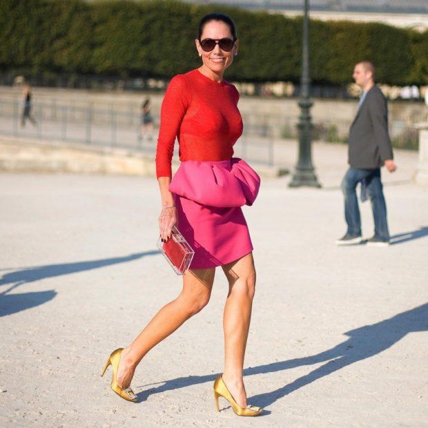 розовая юбка короткая с воланами