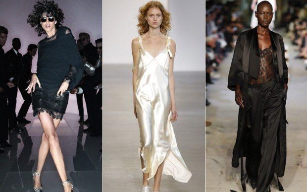 платья в бельевом стиле черное короткое белое длинное черное в пол