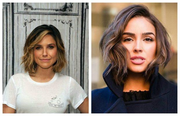 укладка волос 2019-2020 фото: каре хаотичная укладка