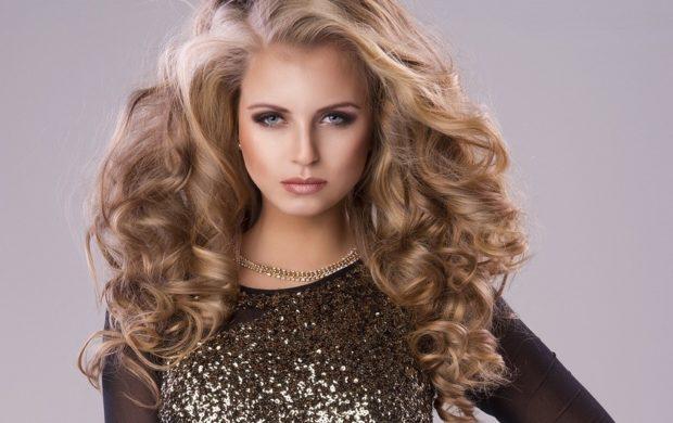 укладка волос: объемные длинные
