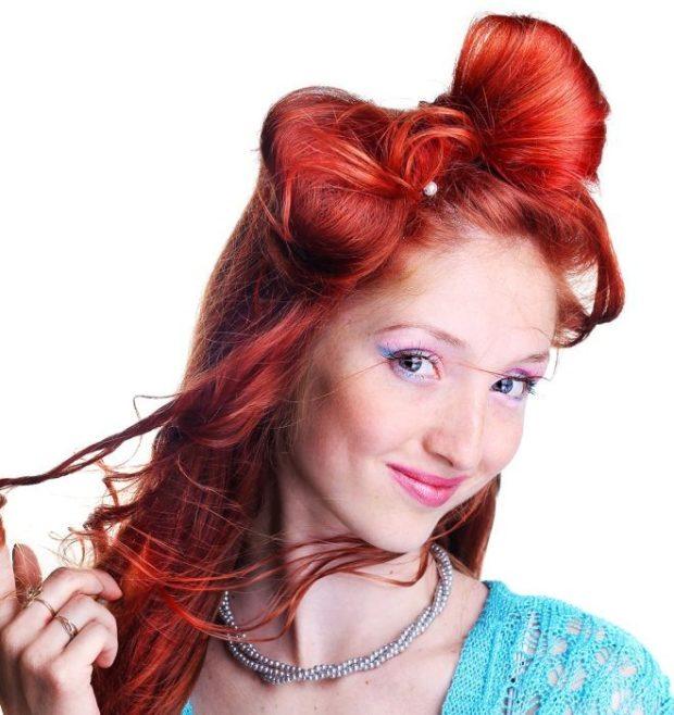 тренды укладки волос: волос бант хаотичный