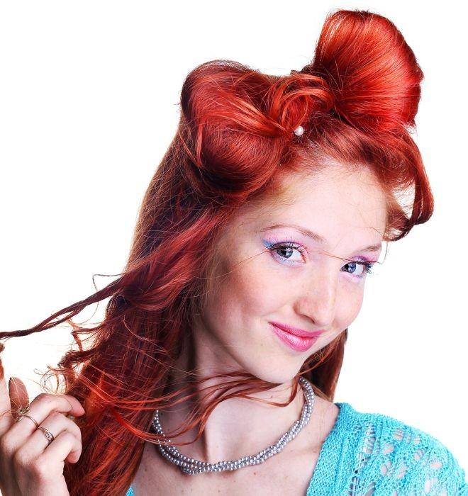 Укладка волос бант хаотичный