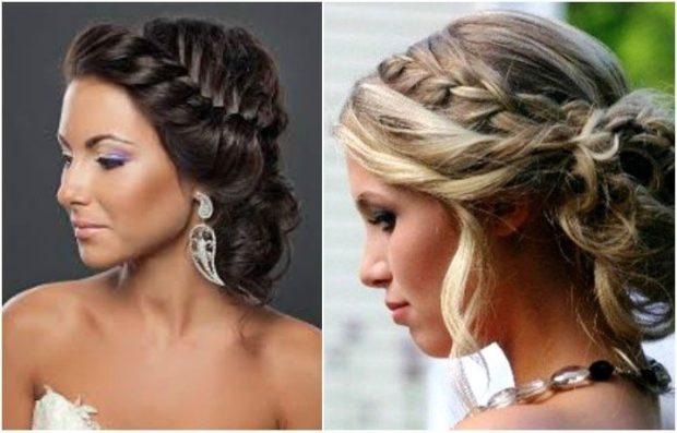 укладки модные тенденции фото: греческая с косой