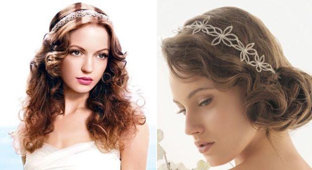 укладки: греческая на длинные волосы с украшением