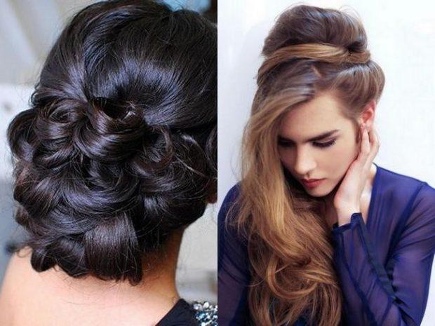 укладки: греческая на длинные волосы