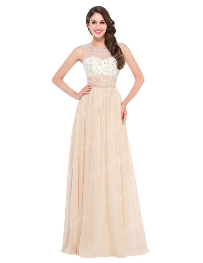 вечернее бежевое модное платье 2018 года без рукава верх кружево тенденции фото