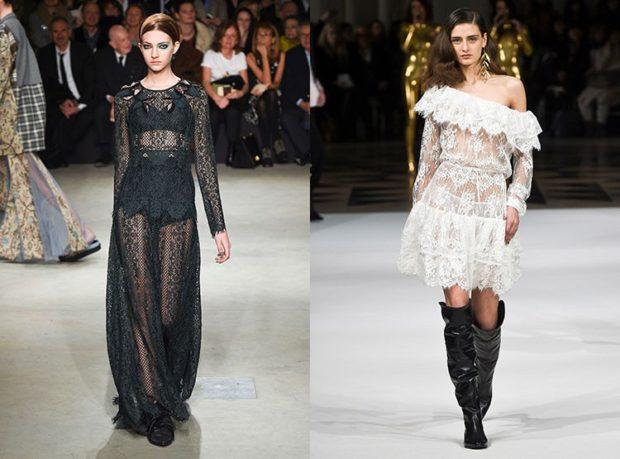 новинки вечерних платьев 2019-2020: стильное прозрачное длинное черное белое по колено открытые плечи