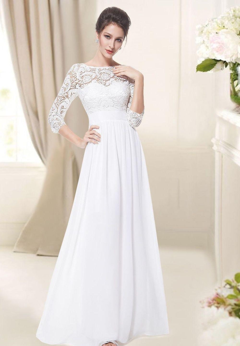 модное вечернее платье белое рукава 3/4 ажурные 2018 года тенденции фото новинки тренды