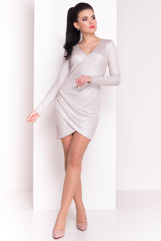 модное вечернее короткое платье 2018 года белое рукав длинный тенденции фото новинки тренды