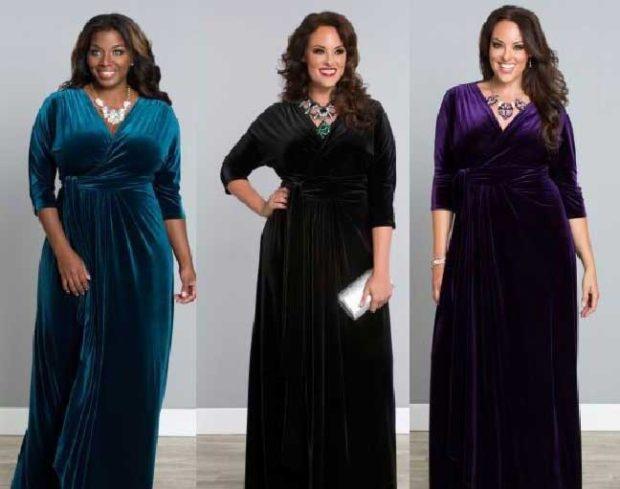 вечерние платья: бархатные длинные рукав 3/4 зеленое темное фиолетовое