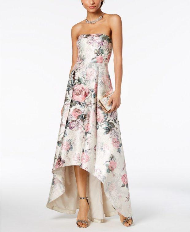 вечернее платье: маллет с принтом
