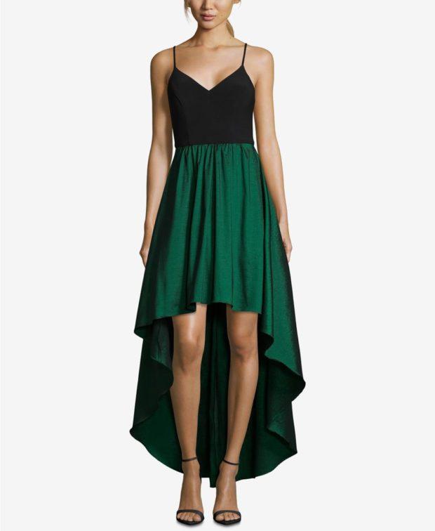 вечернее платье: маллет зеленое