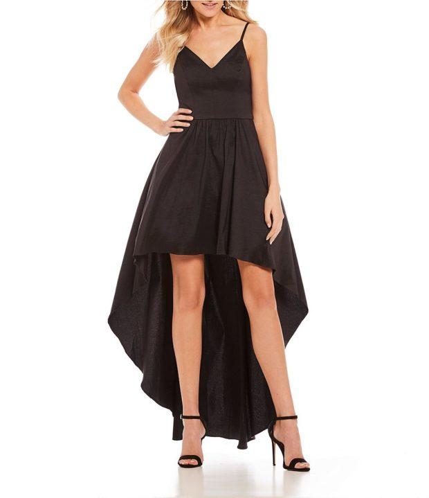 вечернее платье: маллет черное