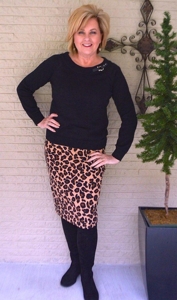 юбка миди леопардовой расцветки