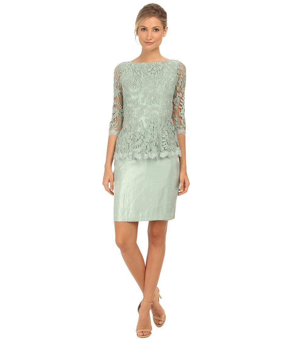 светлое платье миди с кружевом