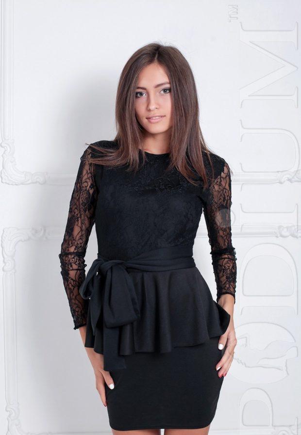 блузка черная ажурная