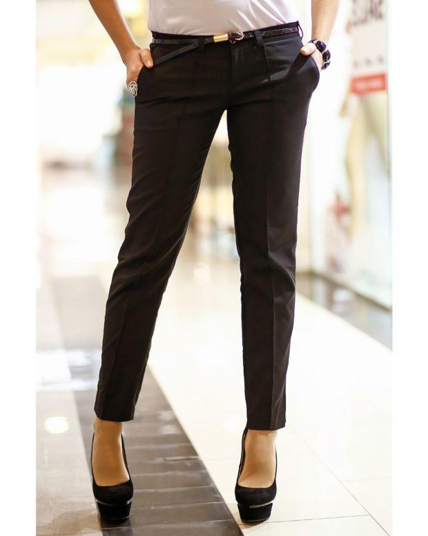 черные прямые юбки