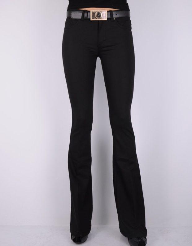 брюки черные клеш
