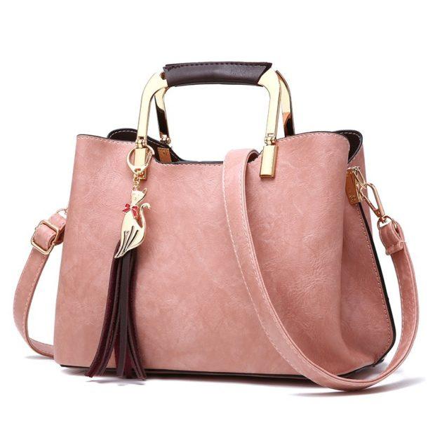 розовая замшевая сумка