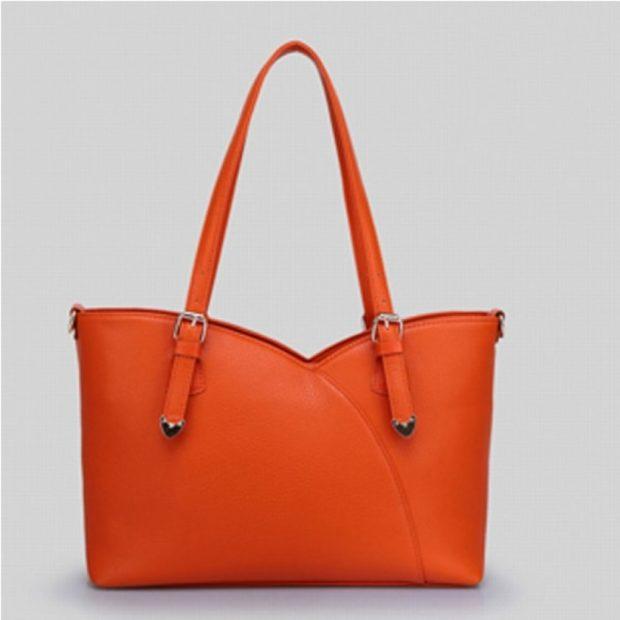 сумка кожаная оранжевая
