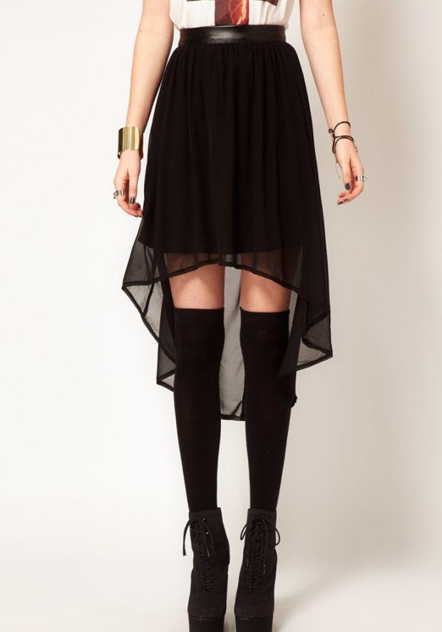 юбка асимметрия черная