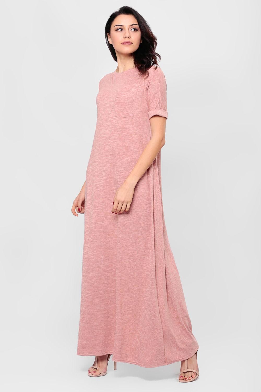 платье длина макси грязно-розового цвета