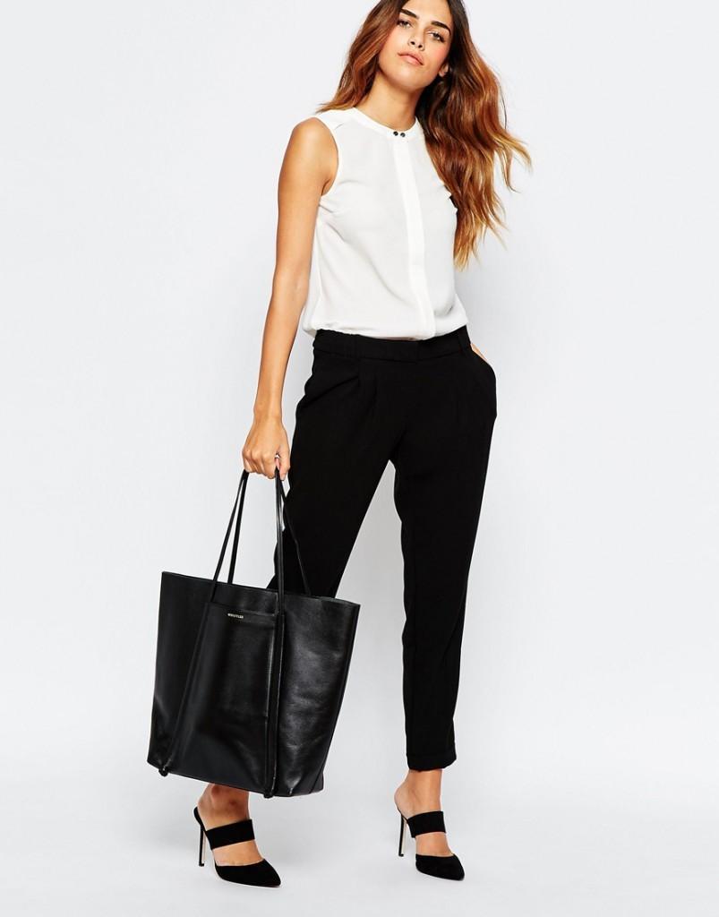 черные короткие штаны под блузку без рукава