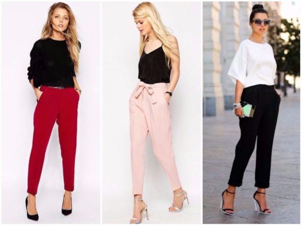 коротки брюки красные розовые черные под блузки