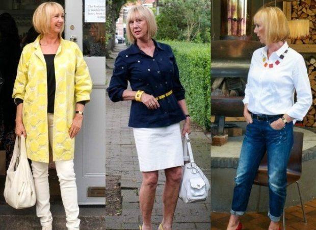 белые штаны под желтый жакет белая юбка под черную блузку джинсы под белую блузку