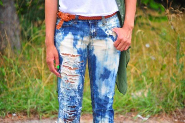 джинсы варенки рваные