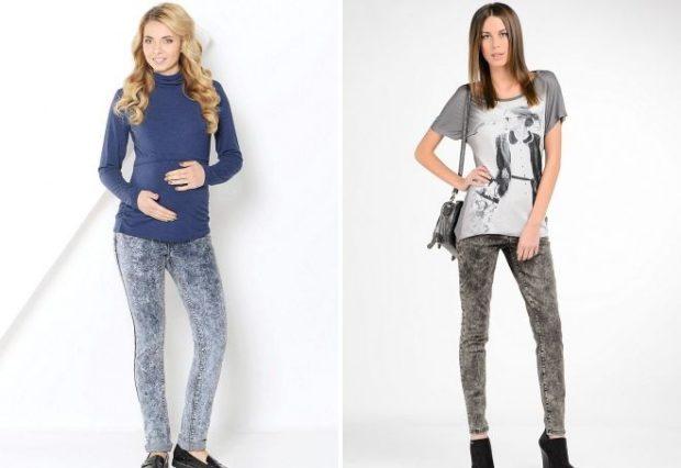 джинсы варенки синие серые