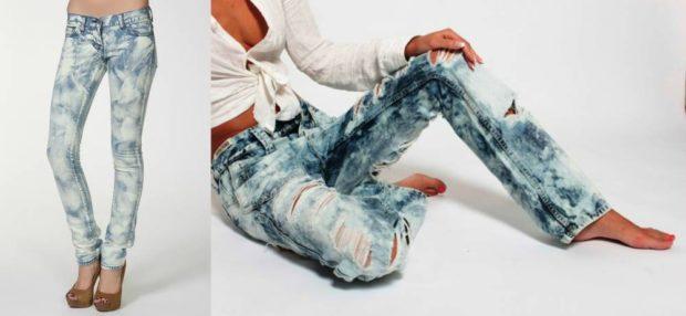 джинсы варенки прямые рваные