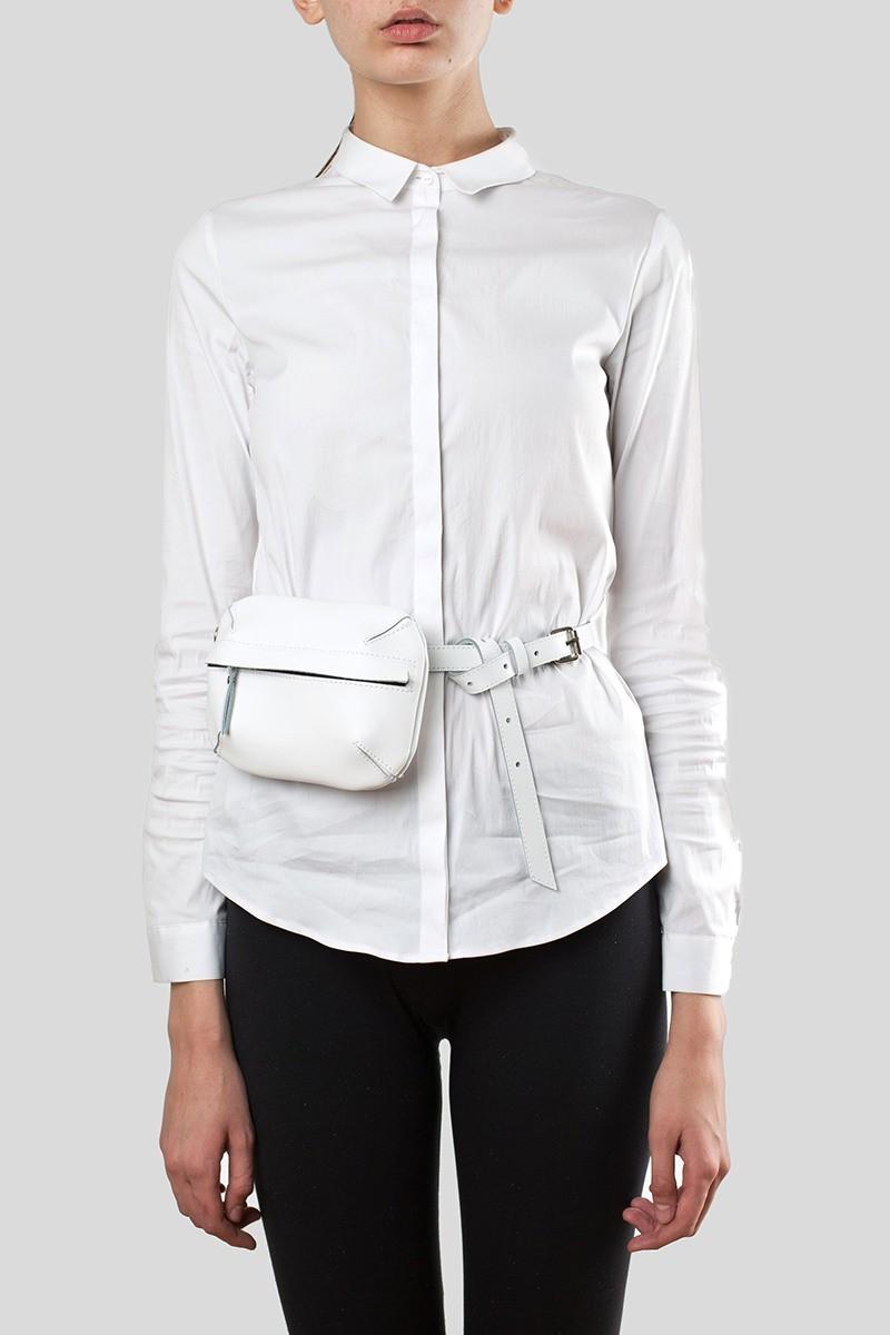 сумка на пояс белая маленькая