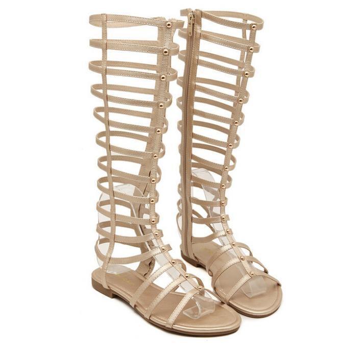высокие сандалии гладиаторы
