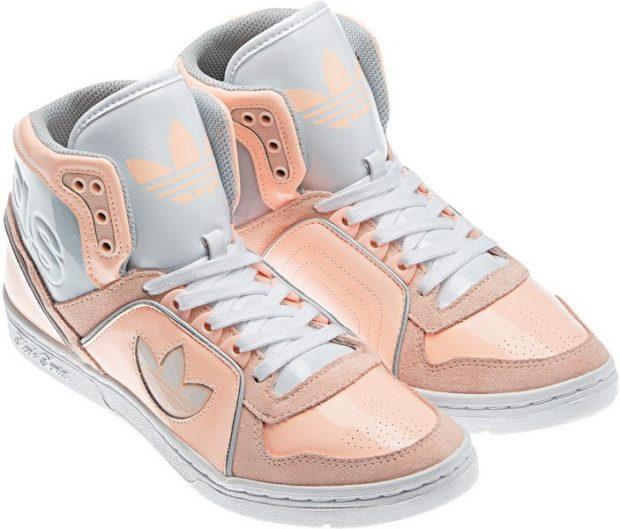 высокие кроссовки розовые
