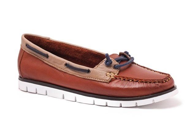 топсайдеры коричневые с синим шнурком