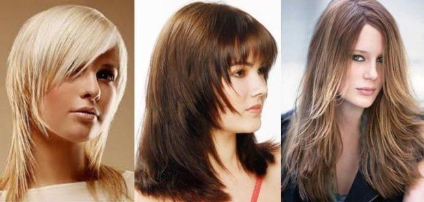 модные стрижки 2018 2019 женские: аврора на среднюю длину волосы с косой челкой