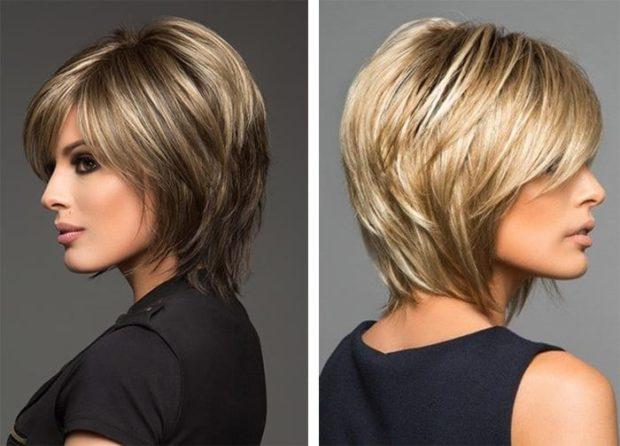 модные стрижки 2018 2019 женские: аврора на короткие волосы с косой челкой