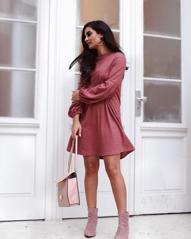Модные тенденции весна лето: платье нежно-малиновое