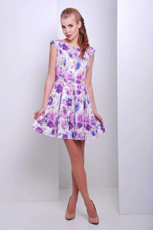 яркое летнее цветное платье