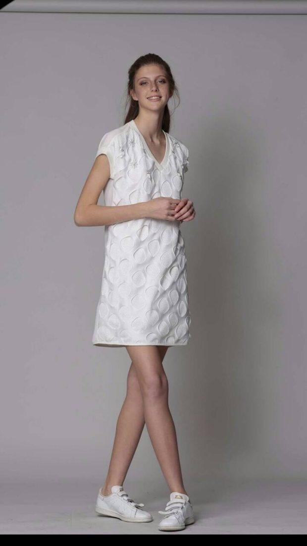 платье летнее короткое белое