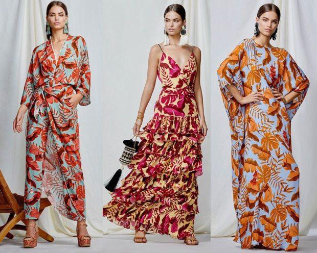 платья яркие цветные длина макси