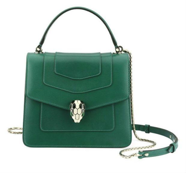 зеленая сумка кожаная каркасная