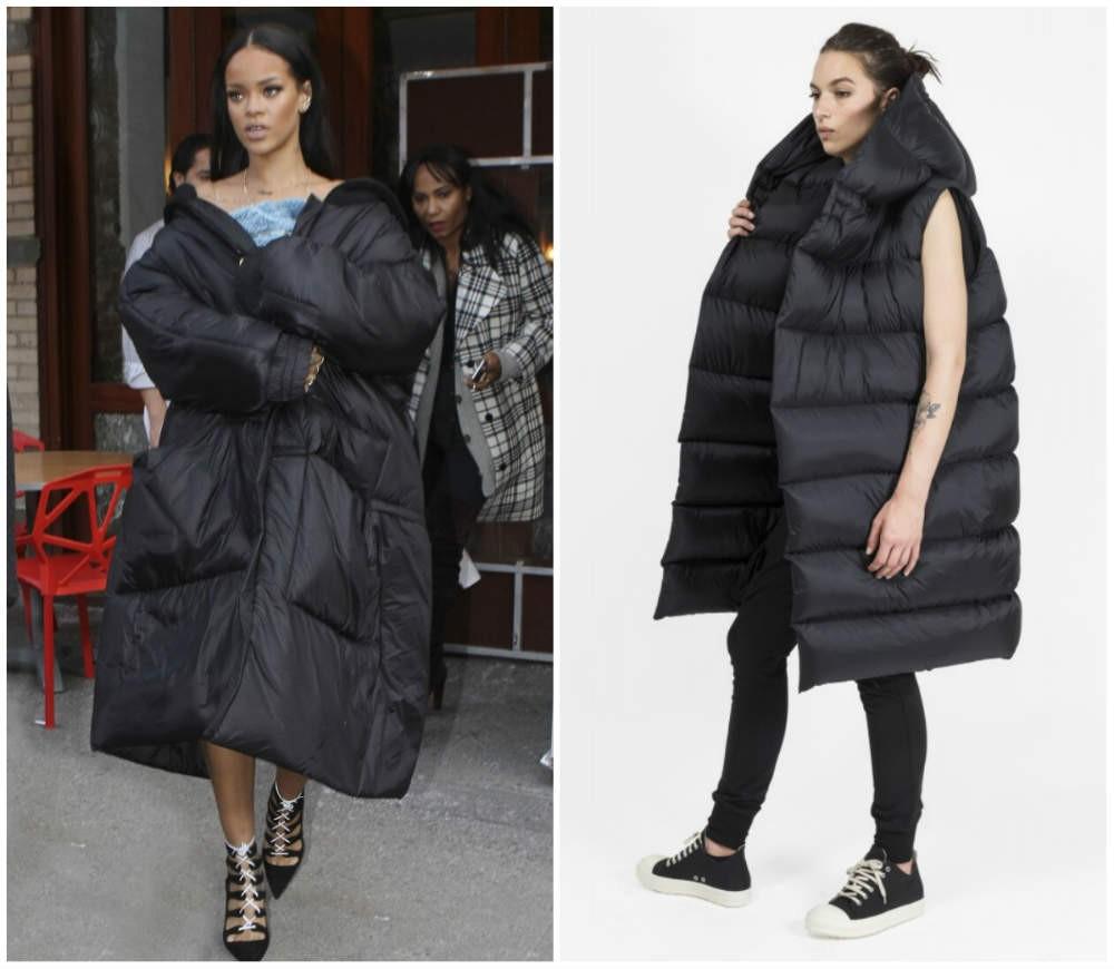 объемное пальто на синтепоне черного цвета