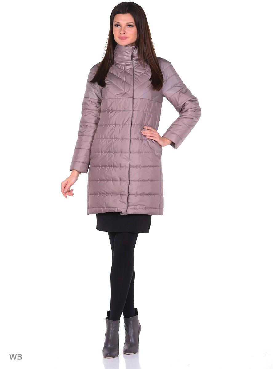 сиреневое болоньевое пальто прямого силуэта