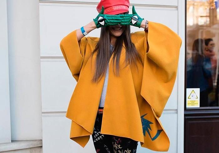 асимметричная куртка пальто горчичного цвета