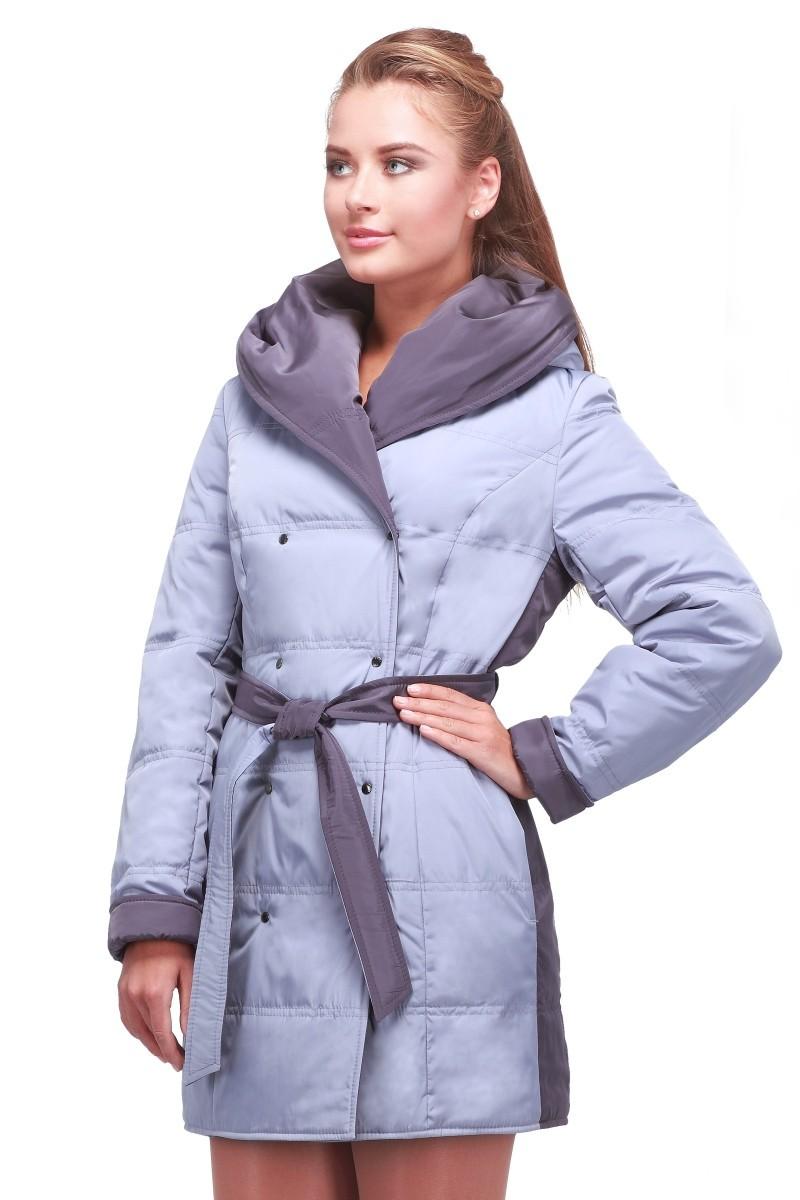 светло-серая куртка пальто с темными вставками
