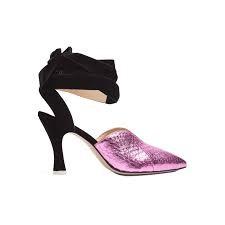 черно-фиолетовый босоножки на невысоком каблуке